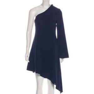 NWT Cinq a Sept Navy Asymmetrical Midi dress